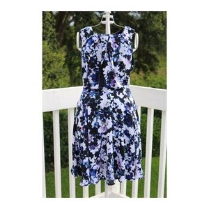 Express Floral Fit & Flare Dress